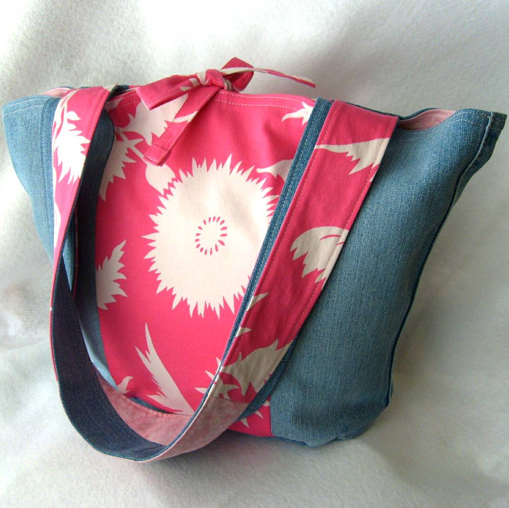 refabulous Connie Crawley, sewist, designer, artist, recycled denim tote