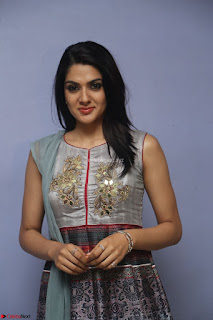 Sakshi Chaudhary Beautiful Emroidery Work Sleeveless Anarkali Dress 062.JPG