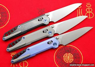 NOC MT-04 titanium folders with axis-lock & M390 blade