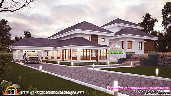 Traditional mix contemporary house exterior