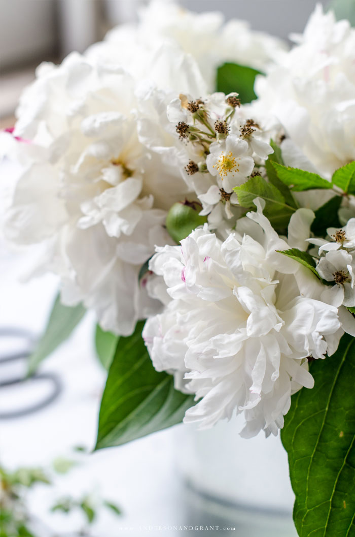 Learn one simple tip that will take your flower arrangements from looking basic to professional, even if you think you don't have flower arranging skills.  |  www.andersonandgrant.com