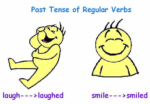 Laugh Verb Past Tense