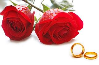 Bunga mawar dan cincin