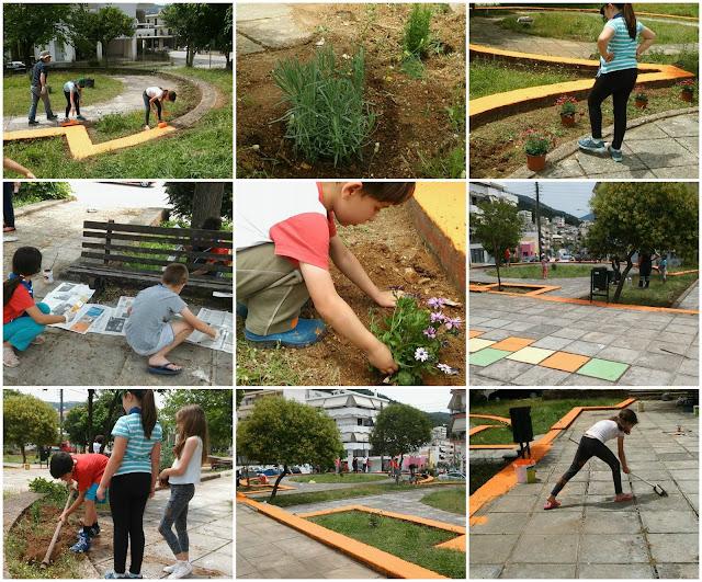 Τα λυκόπουλα του 1ο Συστήματος Ναυτοπροσκόπων Ηγουμενίτσας καθάρισαν  το πάρκο στην πλατεία Τιτάνης