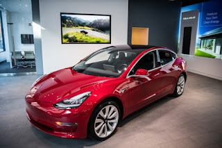 Tesla Model 3 (Credit: The Washington Post/Getty Images) Click to Enlarge.