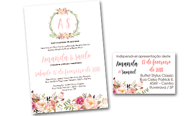 convite de casamento editavel