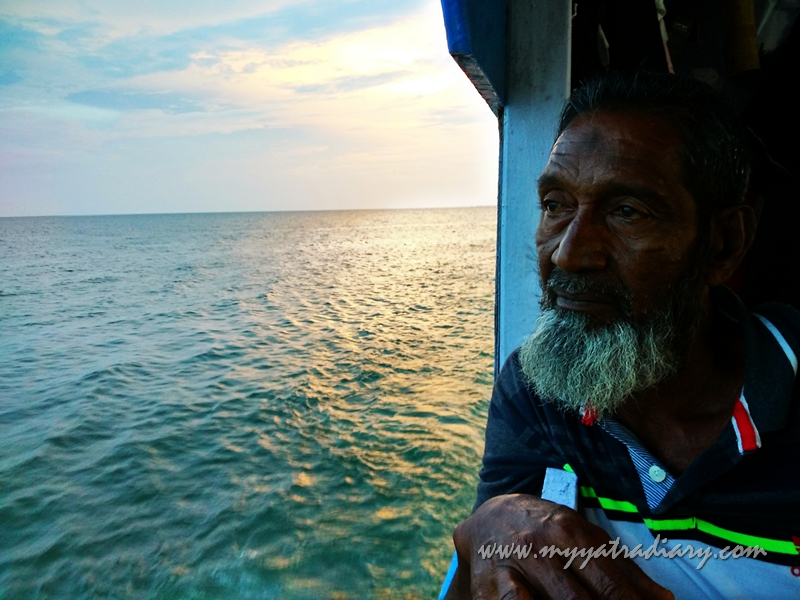 Boatman during Rameshwaram Boat Ride