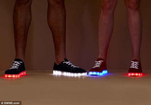 a013065cf392 The Team Great Britain s flashing shoes from the Rio Olympics  closing  ceremony are now on sale. The limited-edition light-up kicks by Simon  Jersey ...