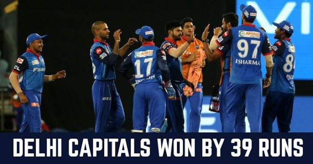 Delhi Capitals won by 39 runs