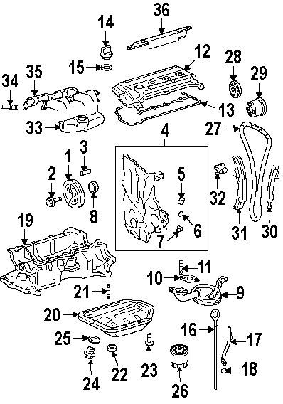 Part Diagrams  Toyota Prius 2009 Engine Components Diagrams