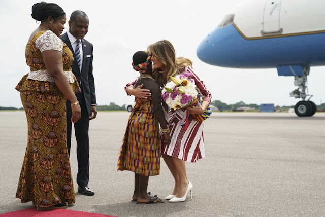 Flotus-melania-trump-in-ghana