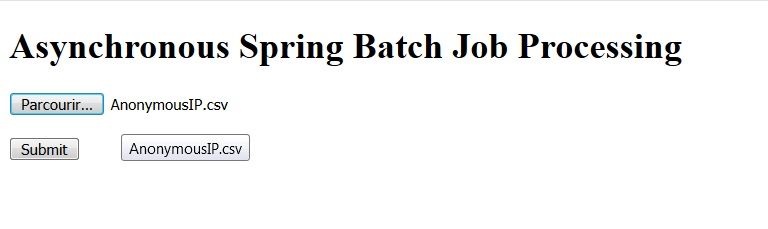 spring boot upload file spring batch async job launcher