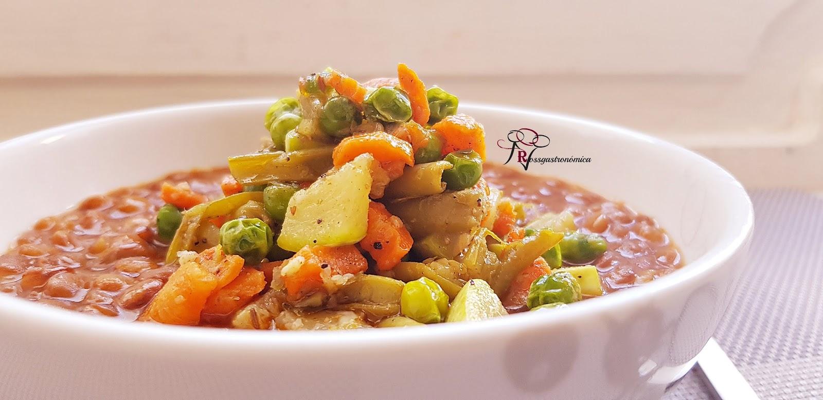 Lentejas con verduras dieta disociada
