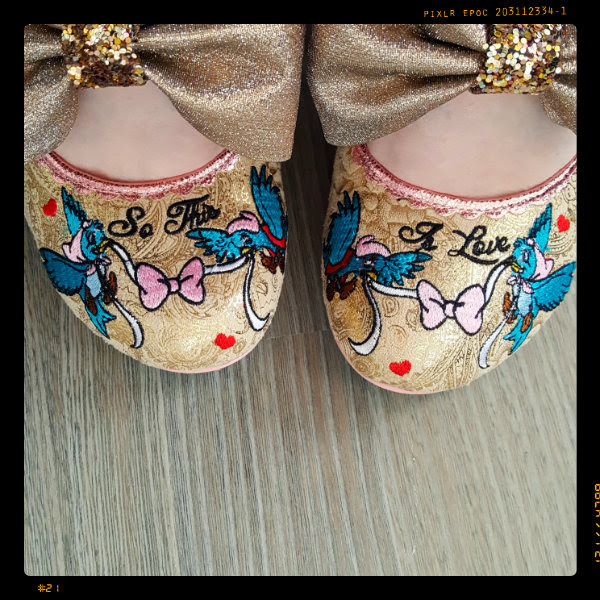 wearing irregular choice so this is love cinderella embroidered bird toes