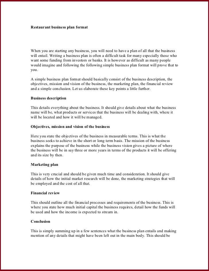 Restaurant Business Plan Template – Bakery Business Plan Template
