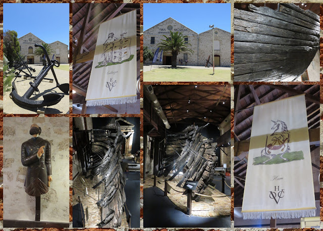 Collage of pictures from the Shipwreck Galleries in Fremantle Western Australia