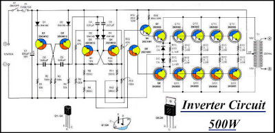 Inverter 12VDC to 220VAC Diagram