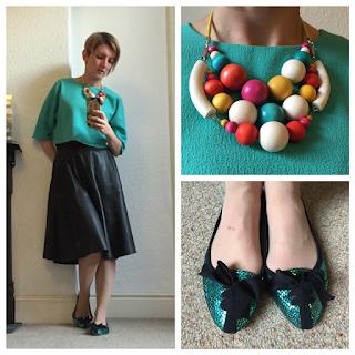 Zara skirt and Warehouse top