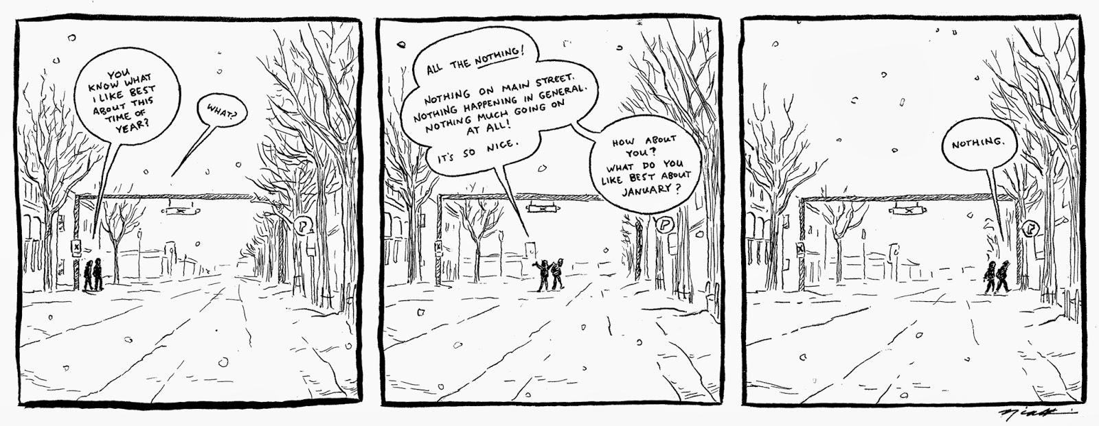 A 'County Comics' strip for a January Monday...