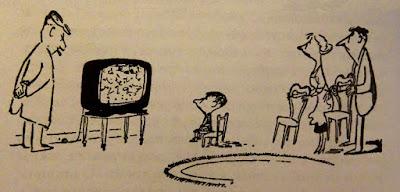 Ο μικρός Νικόλας και η τηλεόραση, σκίτσο του Ζαν Ζακ Σαμπέ