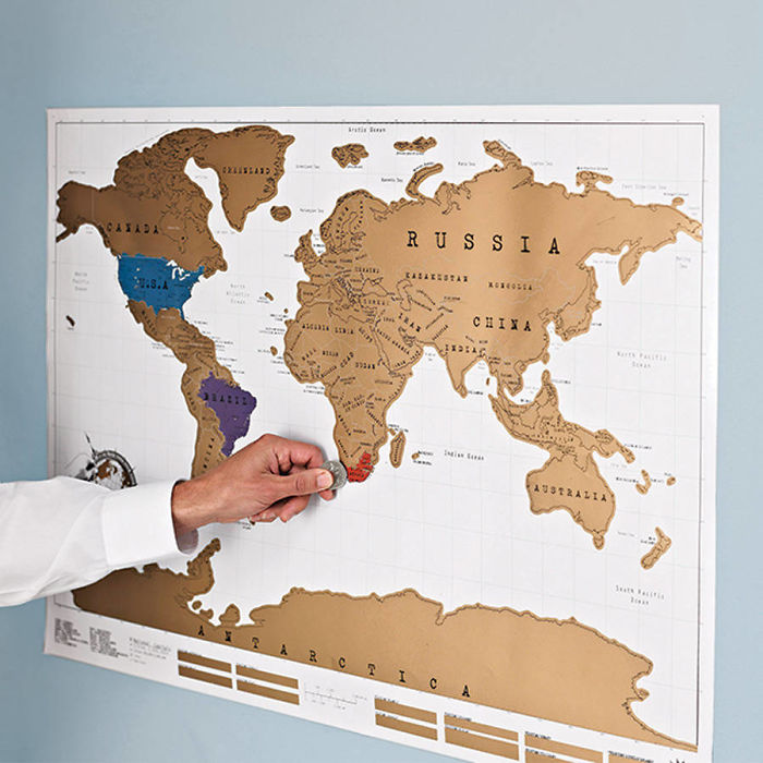 15+ Of The Best Traveler Gift Ideas Besides Actual Plane Tickets - Scratch Off World Map
