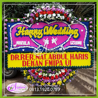 TOKO BUNGA PAPAN HAPPY WEDDING BPWD002