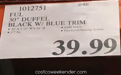 Deal for the Ful Split-Level Rolling Duffel Bag at Costco