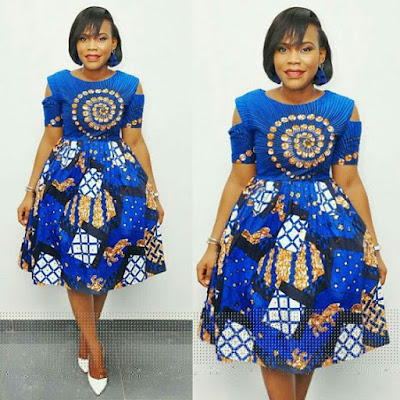 Ankara Short Flare Gown