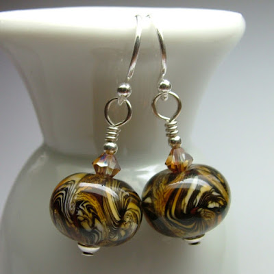 Lampwork Glass Earrings