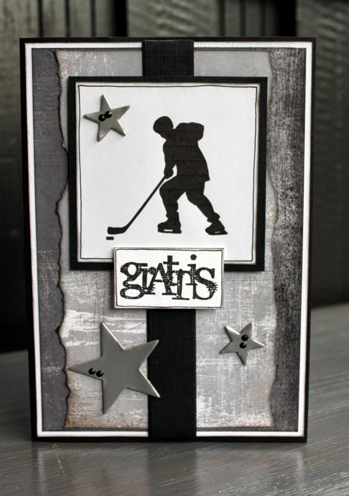 grattiskort kille hemma hos ulrika: Grattiskort till en hockey kille grattiskort kille
