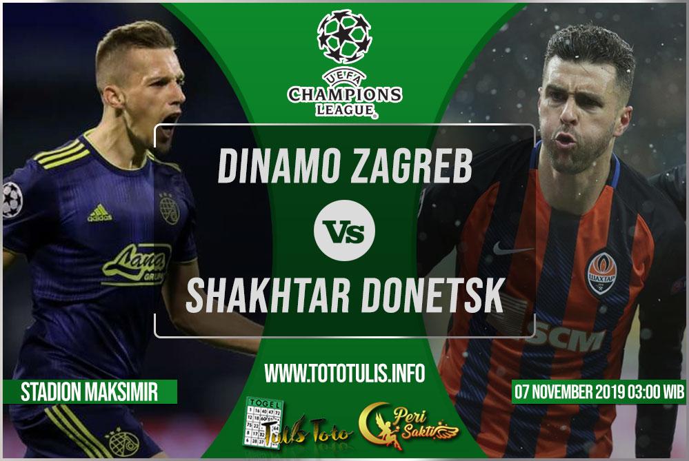 Prediksi Dinamo Zagreb vs Shakhtar Donetsk 07 November 2019