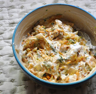 Raw papaya and Carrots raita