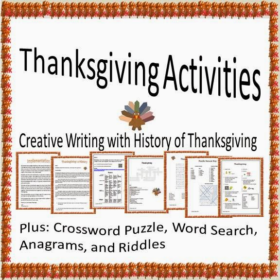 Thanksgiving Activities: Creative Writing with a History of Thanksgiving