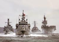 Çeşitli gemilerden oluşan Türk Donanması