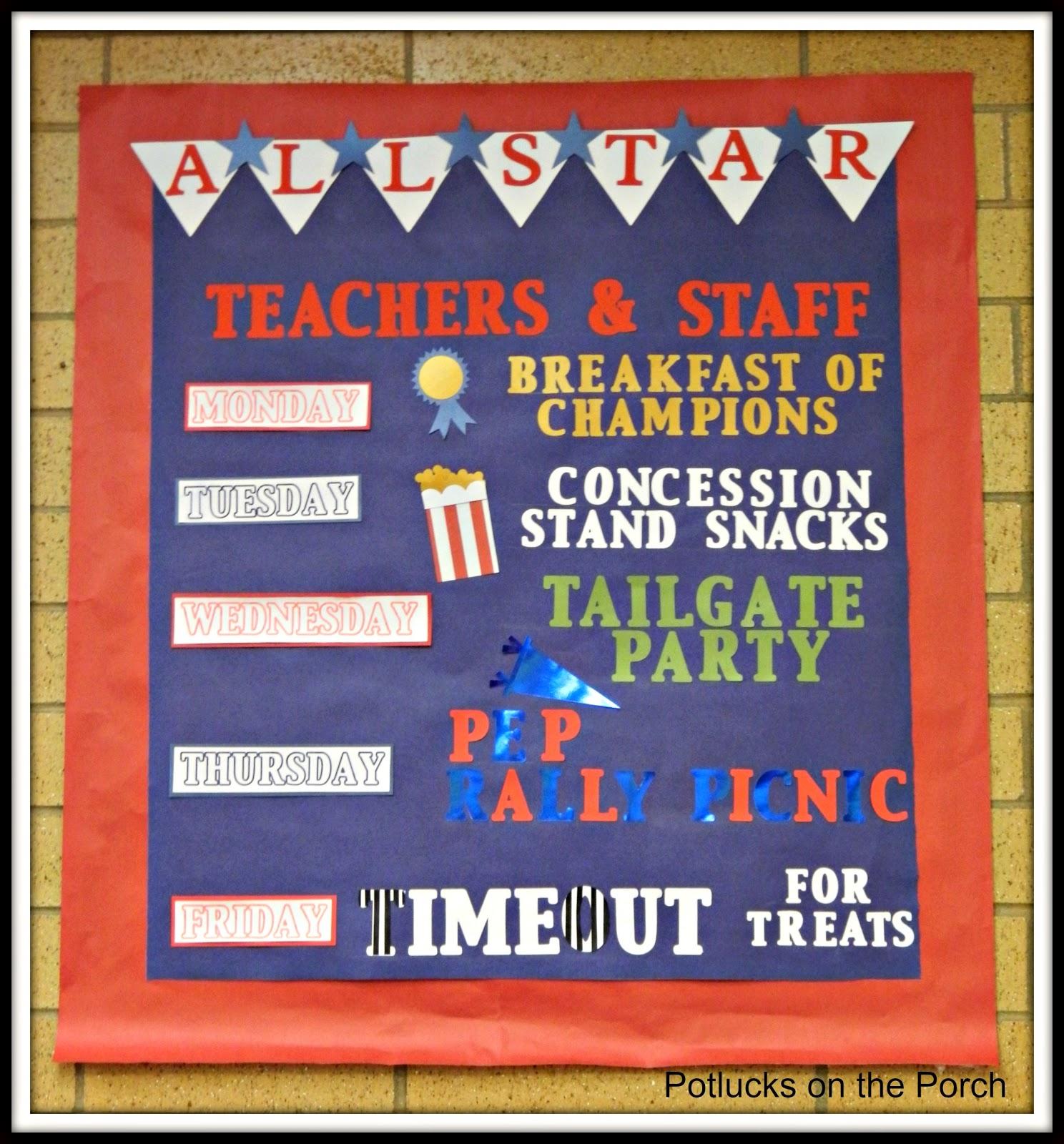 Potlucks On The Porch: Teacher Appreciation Week: All