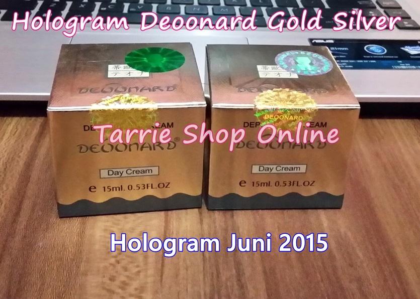 Deoonard Gold Silver Hologram Hijau Silver