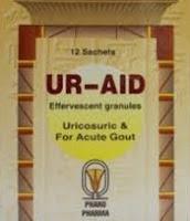 """يور إيد فوار مذيب لحمض اليوريك ولعلاج نوبات النقرس الحادة وللوقاية من تكوين الحصوات   """" التركيب ، الجرعة ، موانع الاستعمال ، دواعى الاستعمال ، الاثار الجانبية """"  Ur Aid"""