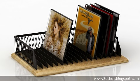 free 3d model cd rack