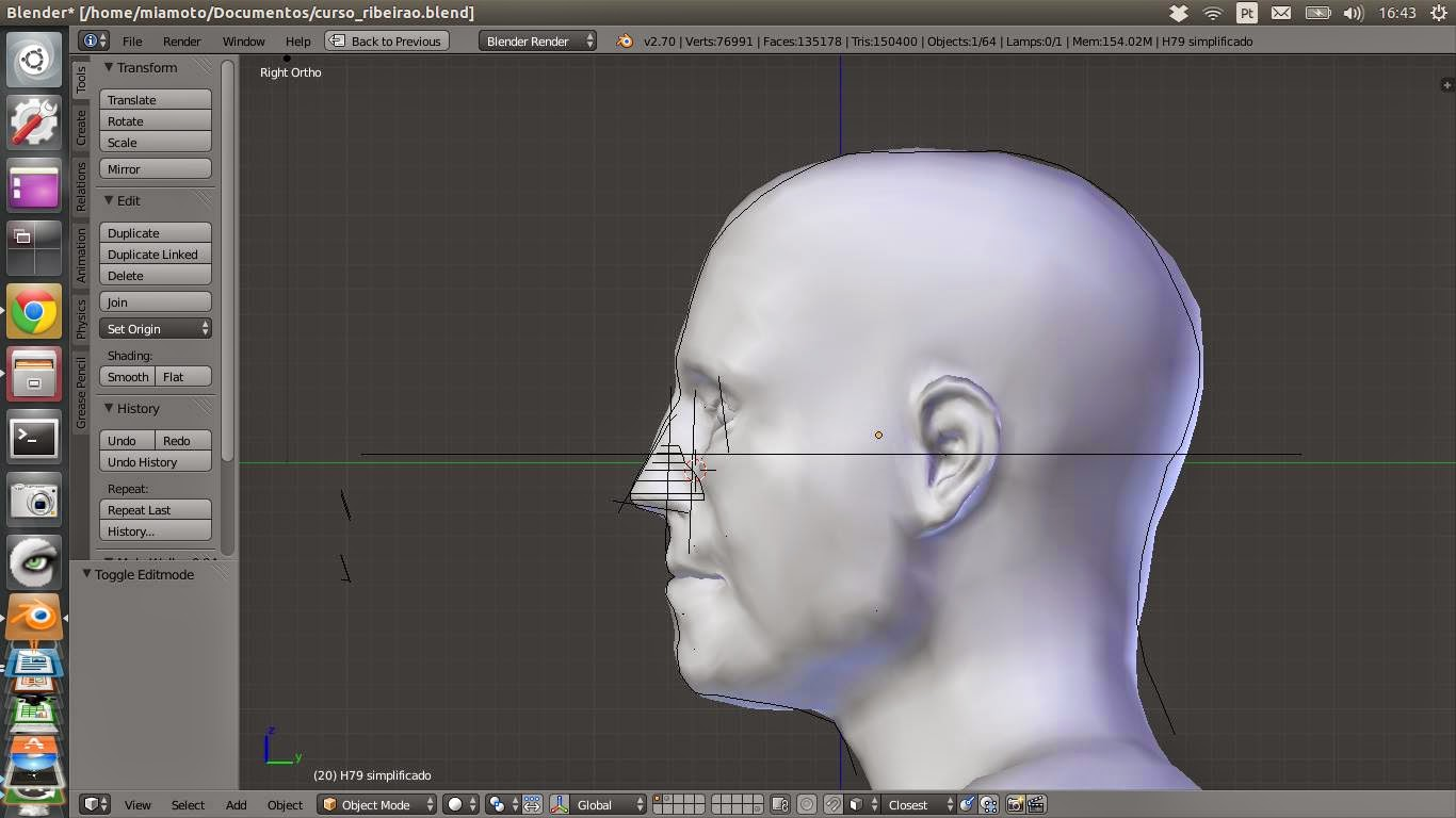 ATOR: MakeHuman – Tests with facial reconstruction and human