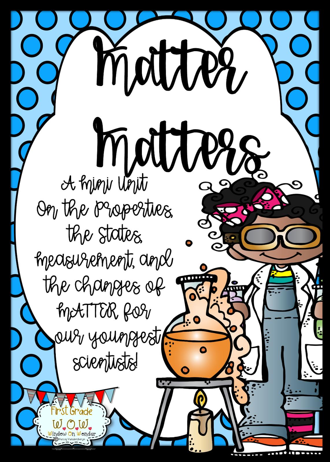 First Grade Wow Matter Matters