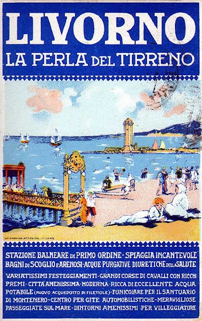 Poster, Livorno la Perla del Tirreno, Livorno the Pearl of the Tyrrhenian sea