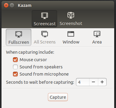 How to desktop screen video record with Kazam in Ubuntu: