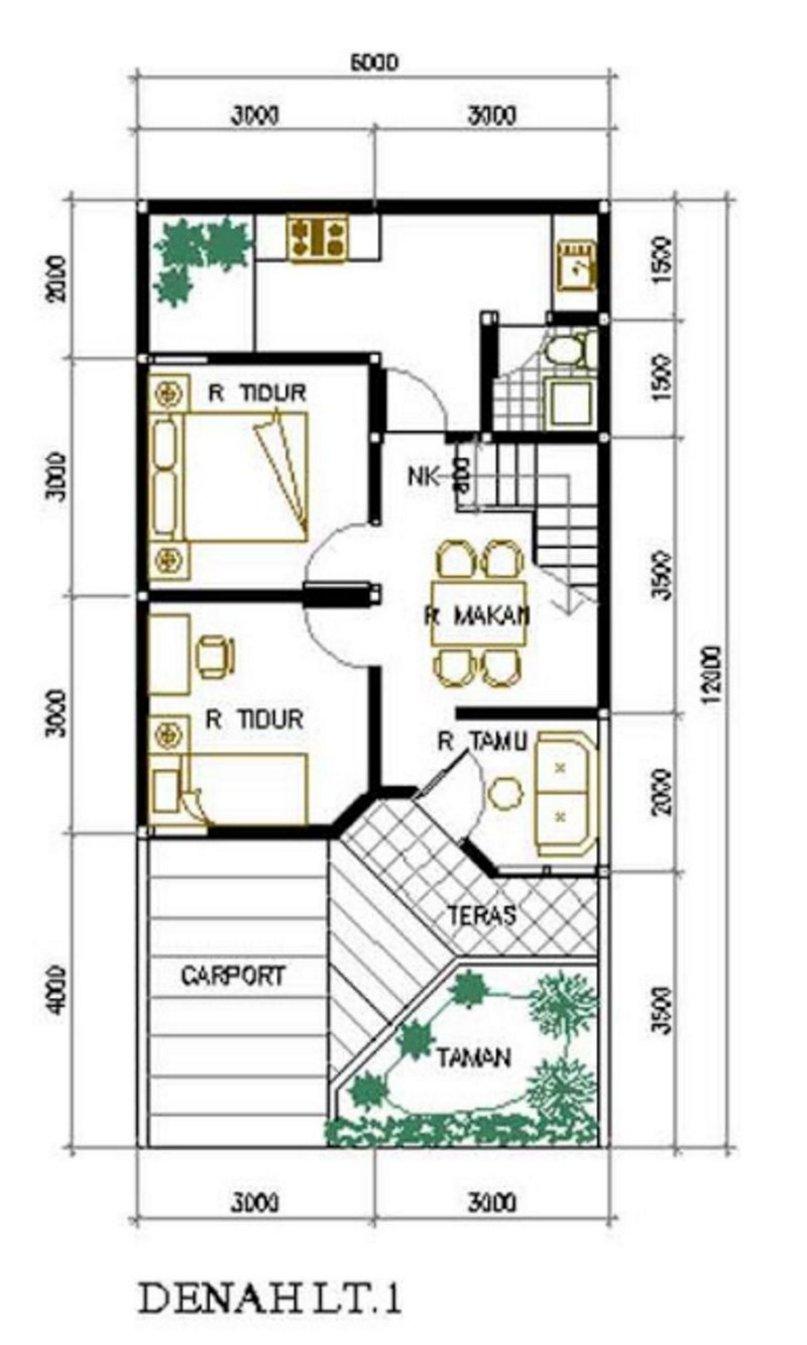 Contoh Gambar Desain Rumah 9x10 Informasi Desain dan