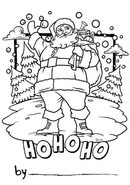 Unique Santa Claus Coloring Pages