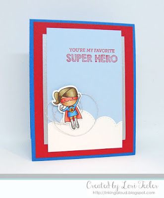 You're My Favorite Super Hero card-designed by Lori Tecler/Inking Aloud-stamps and dies from Mama Elephant