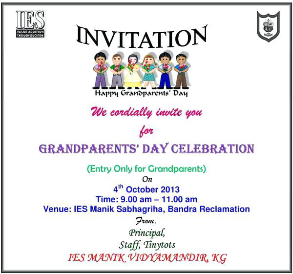 Grandparents Day Invitation Cards Printable