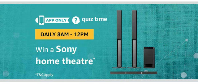 Amazon Answer the questions and Win Sony Home Theatre