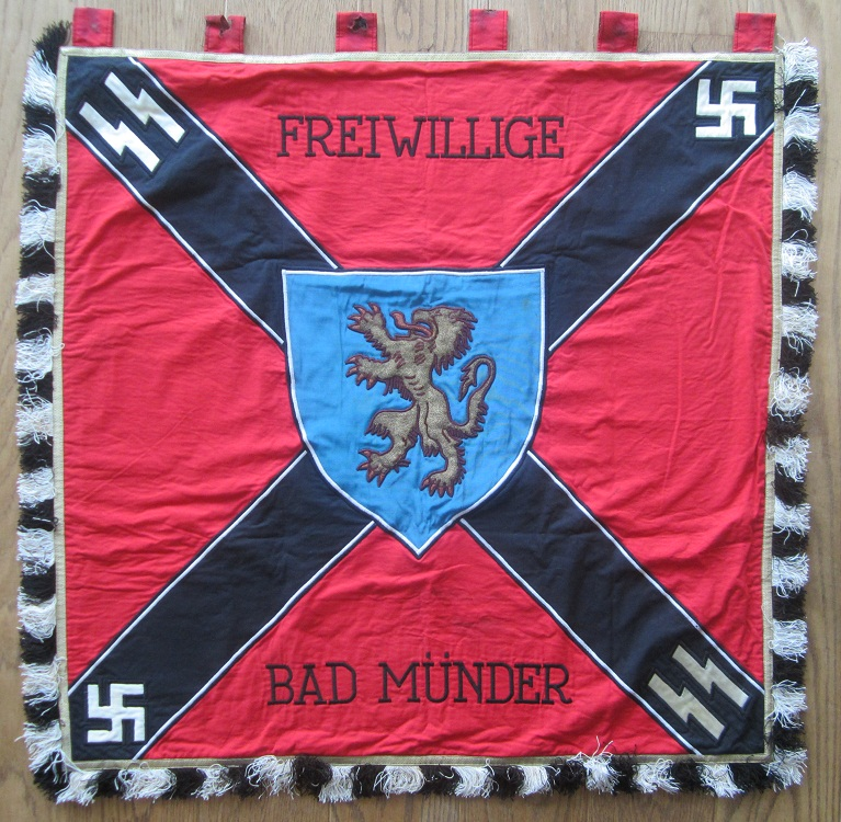 Hearts and Daggers: German SS Freiwillige Flag for BAD MUNDER