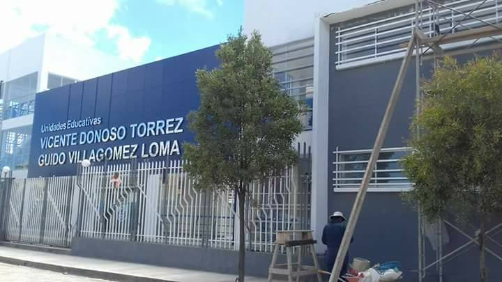 Unidad Educativa Vicente Donoso Torres estrenó una moderna infraestructura en marzo