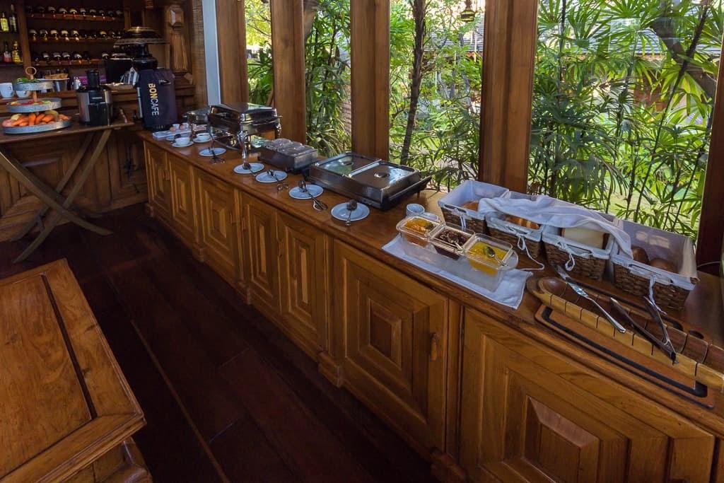 Opciones de desayuno del Hotel by the Red Canal, Mandalay